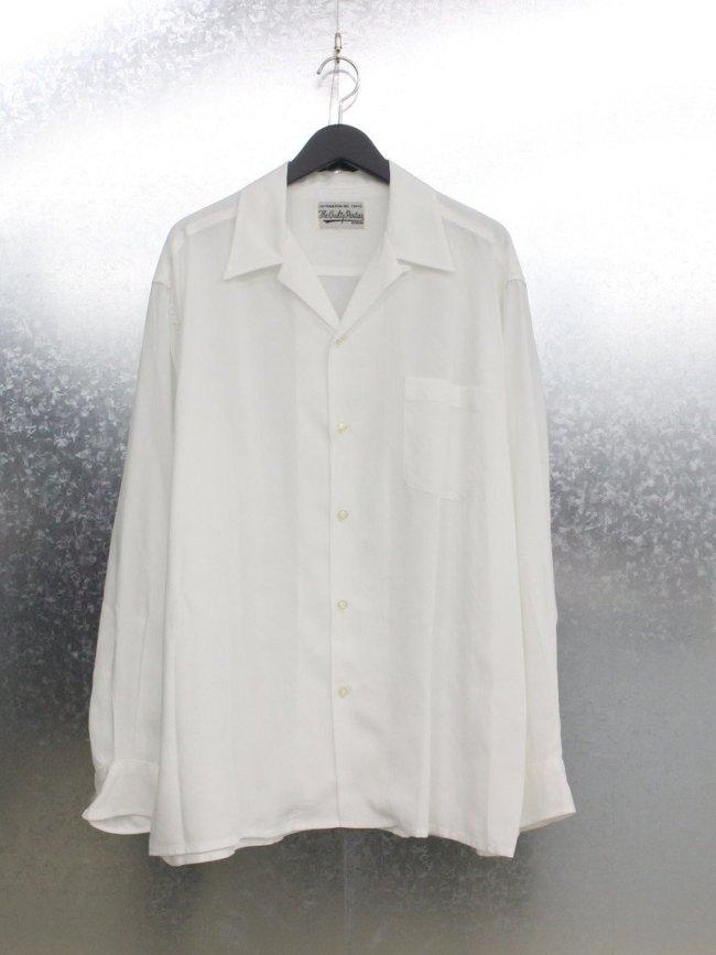 WACKO MARIA 50'S SHIRT L/S TYPE 1 #WHITE [21FW-WMS-OC07]