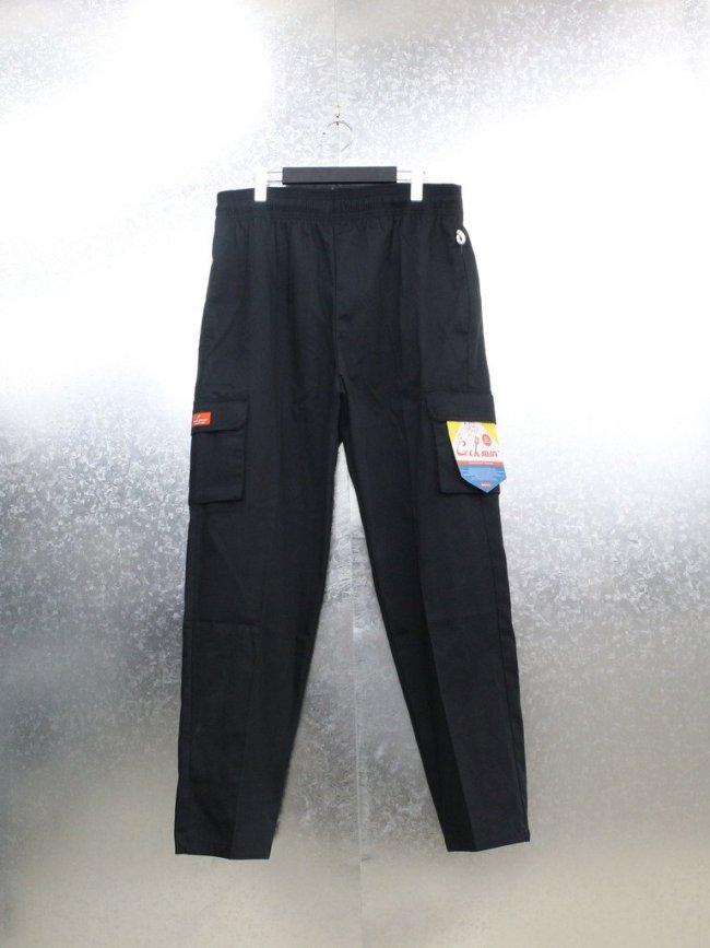 COOKMAN CHEF CARGO PANTS (RIPSTOP) #BLACK [231-01843]