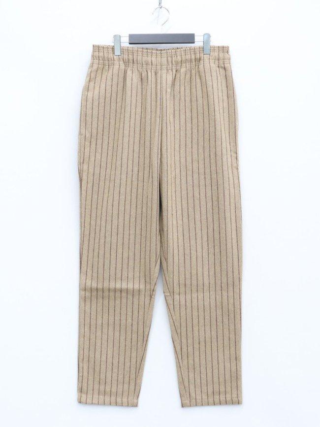 COOKMAN CHEF PANTS (WOOL MIX STRIPE) #BEIGE [231-03802]
