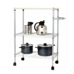 Triple Kitchen Sink Goods Store 澳美佳amjmt047sw 三层厨房架置物架层架微波炉架移动收纳架 奥凯卫浴