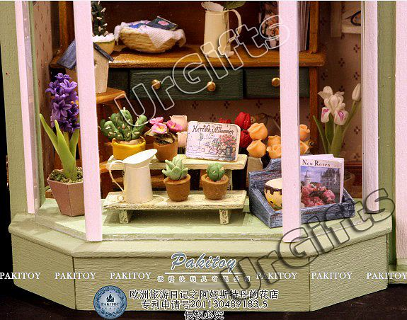 dollhouse miniature diy kit light