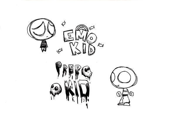 Emo and Prep Kid by iTheProofOfStupidity on DeviantArt