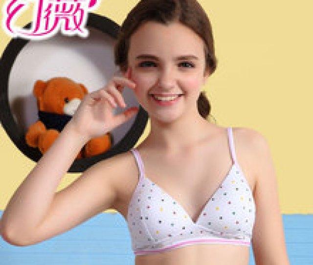 Thin Girls Underwear Made Of Pure Cotton Bra Without Rims Adjust Them Cute Cotton Underwear