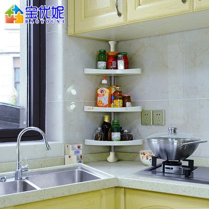 kitchen corner shelf grohe concetto faucet 厨房角架主题推荐 精选15件厨房角架产品 小意达手机版 厨房角架宝优妮厨房用具转角置物架壁挂调料架收纳架