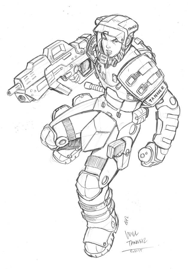starship troopers sketch by deemonproductions on DeviantArt