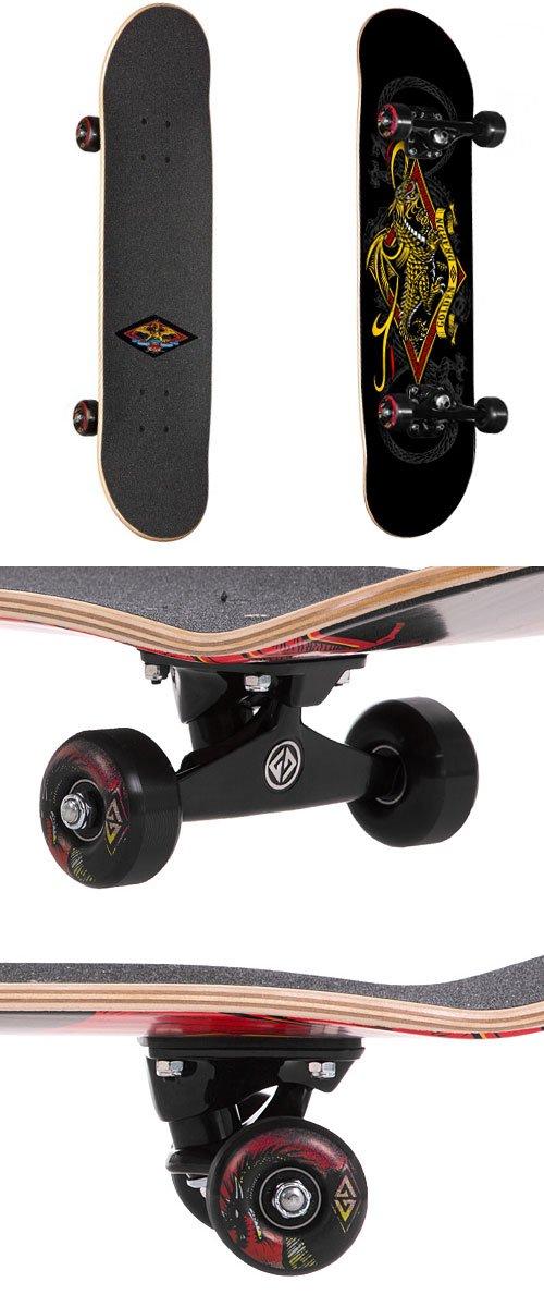 Stencil Dragon Loop Powell Golden Dragon Skateboard Complete