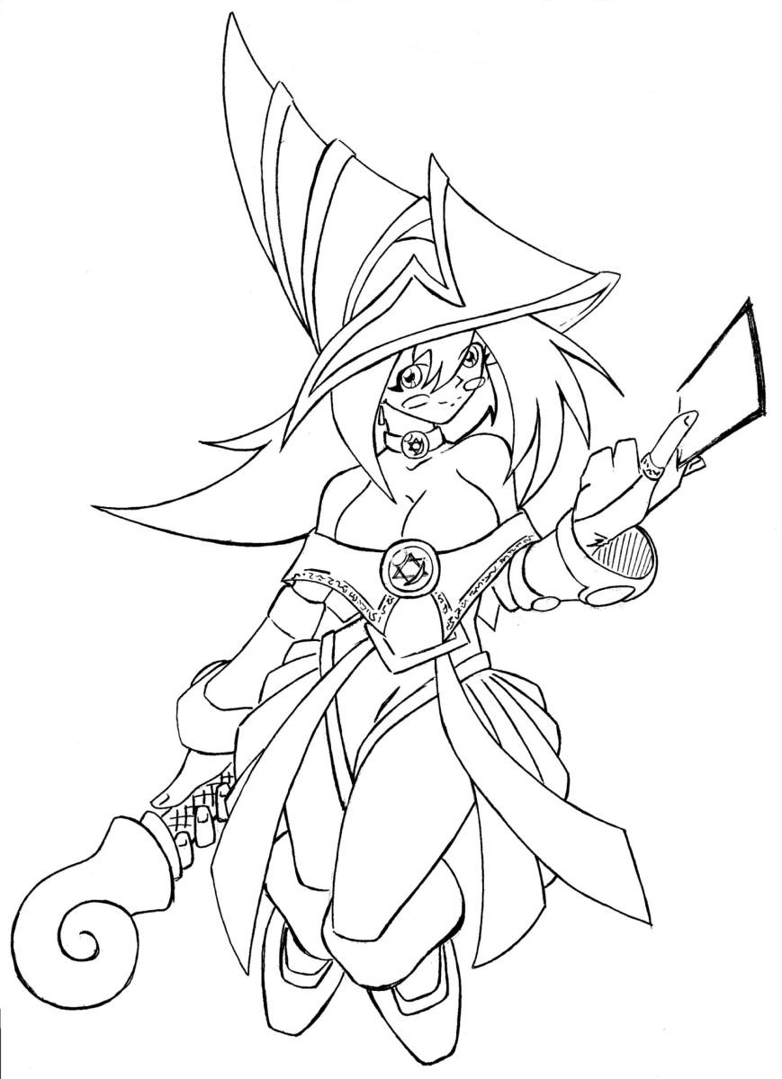 dark magician girl lineart by N647 on DeviantArt
