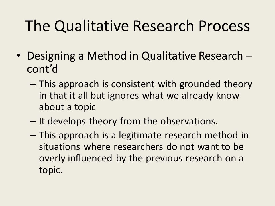 Qualitative Research Paper Example