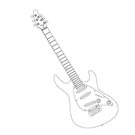 Cort Guitar Outline by Dartein on DeviantArt