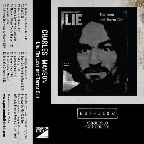 CHARLES MANSON / LIE: The Love and Terror Cult (Cassette)