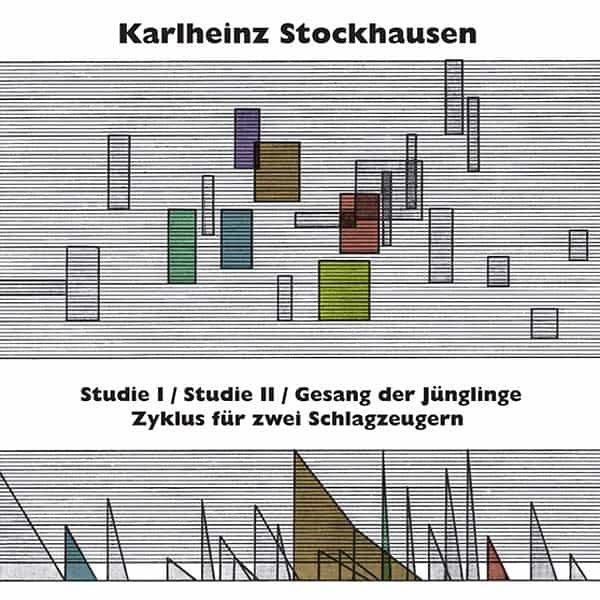 KARLHEINZ STOCKHAUSEN / Studie I & II, Gesang der Junglinge, Zyklus fur zwei Schlagzeugern (LP)