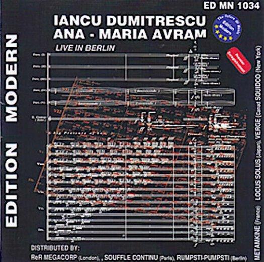 IANCU DUMITRESCU - ANA-MARIA AVRAM / Live in Berlin (2009-2014) (CD)