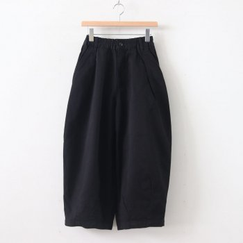HARVESTY | ハーベスティ - CIRCUS PANTS CHINO CLOTH GARMENT DYED #BLACK [A11709]