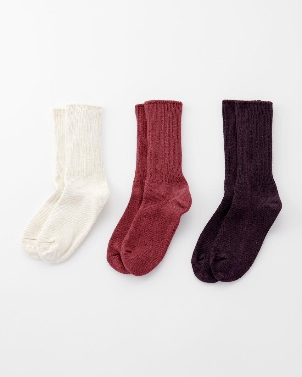 オーガニックコットン靴下 3足パック「白とベリー」の写真