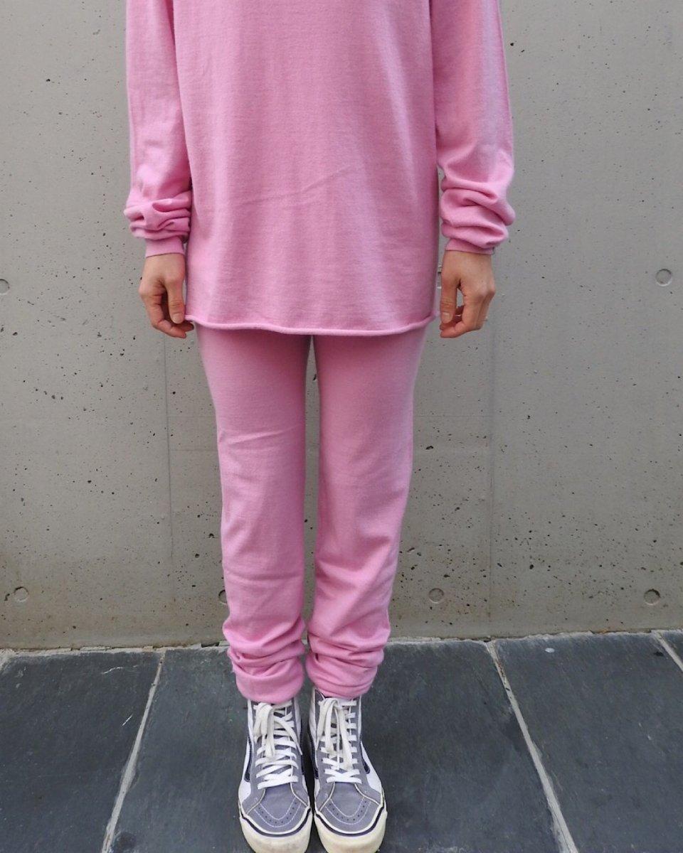 カシミアレギンスパンツ ピンクの写真