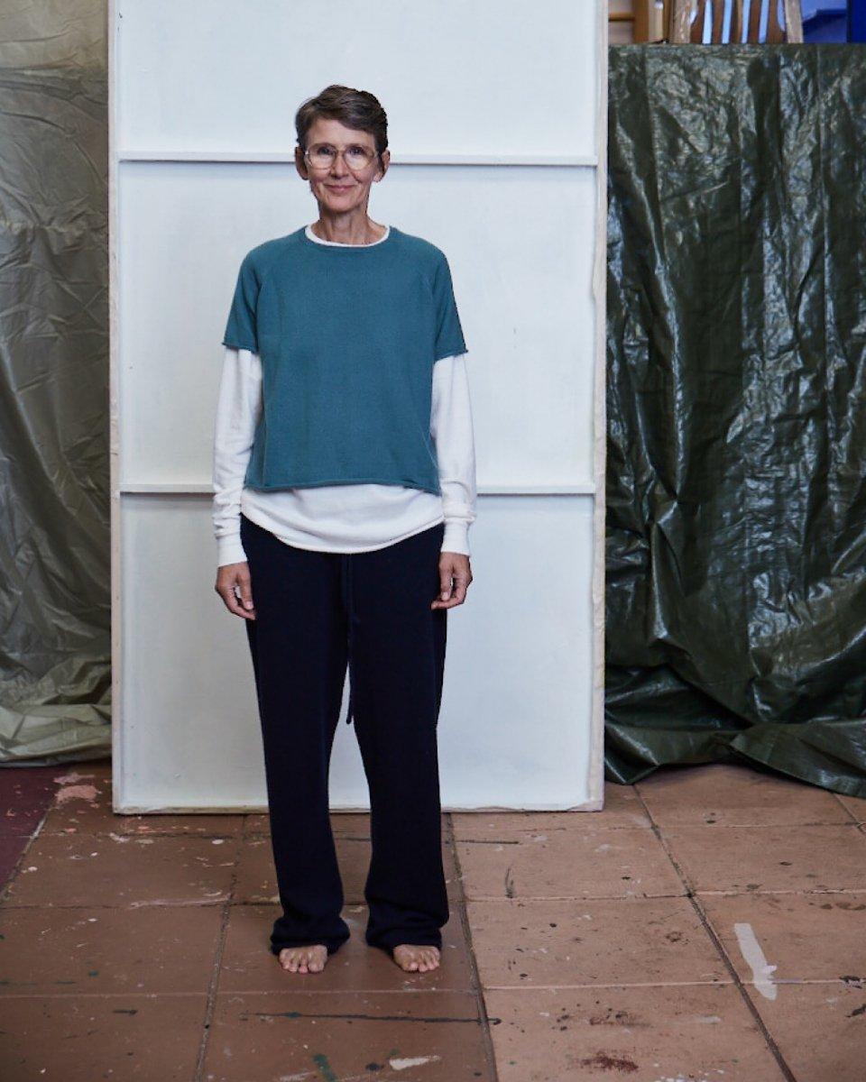 カシミアラグランTシャツ グリーンの写真