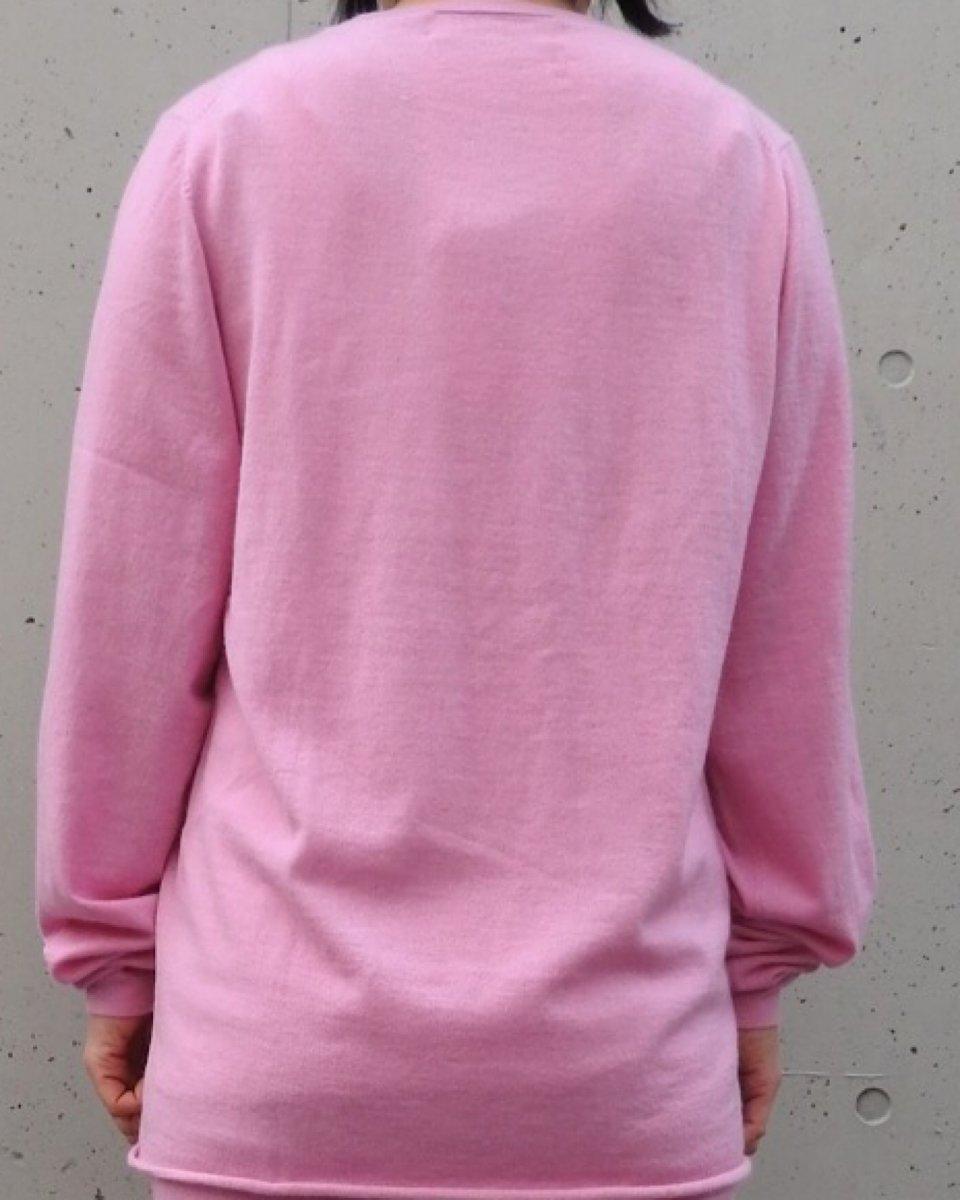 カシミアクラシックプルオーバー ピンクの写真