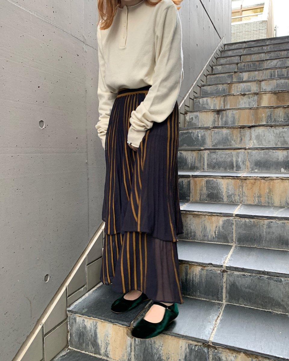 babaco ダブルレイヤーランダムプリーツスカートの写真