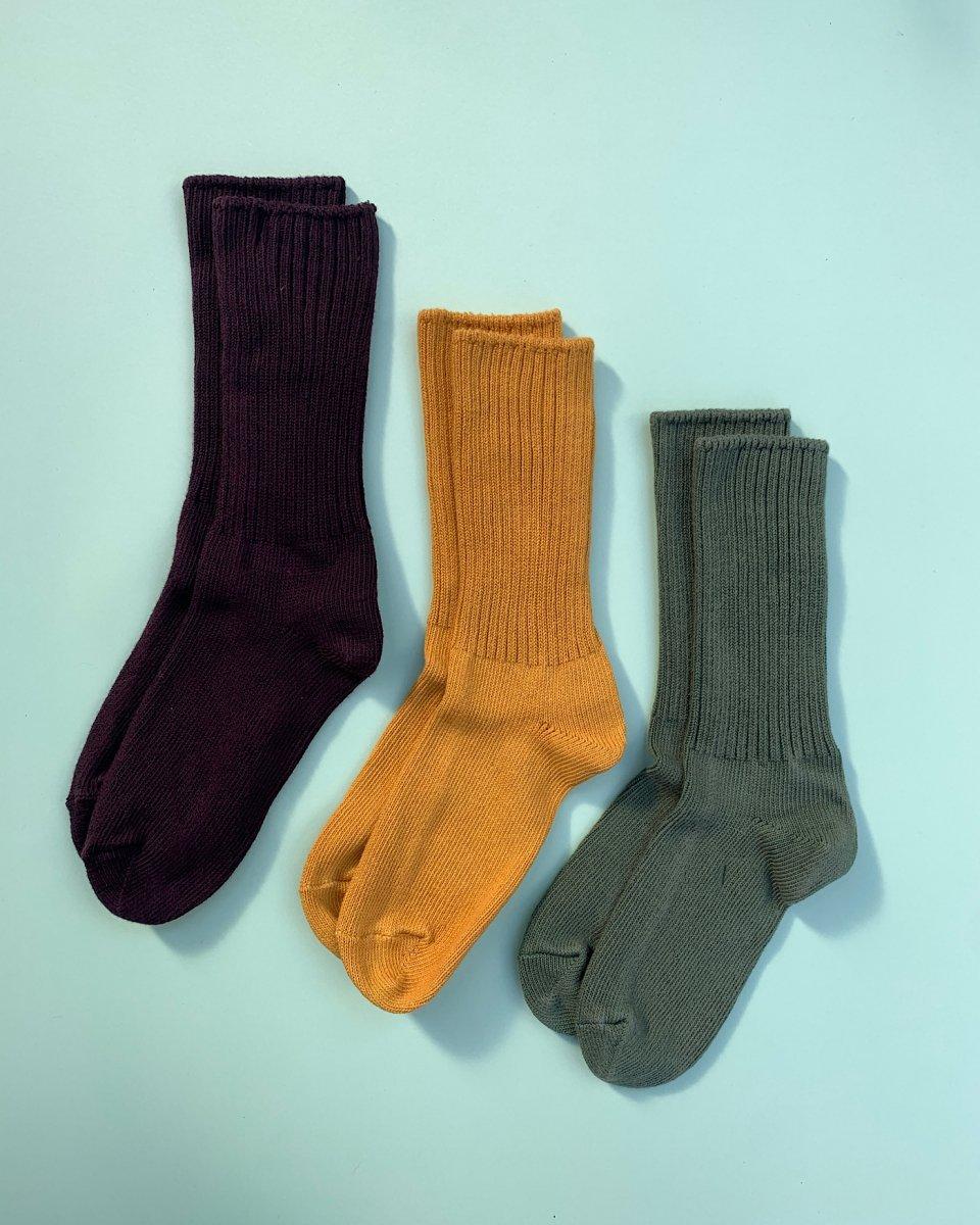 オーガニックコットン靴下 3足パック「渋さ極まるスパイスカラー」の写真