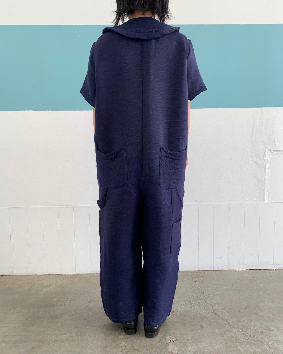 オーバーサイズ ジャンプスーツ ネイビーの写真