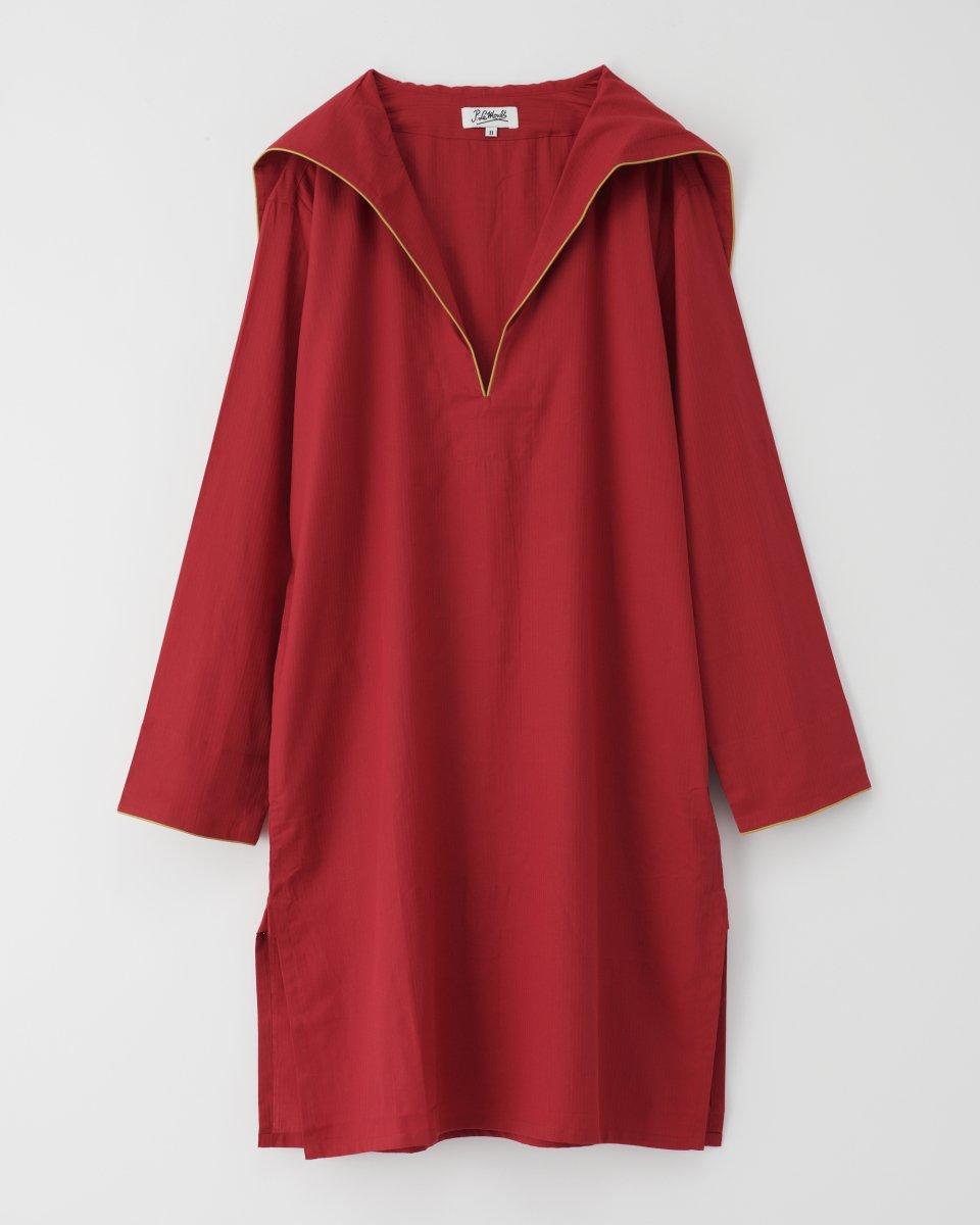 セーラーシャツドレス 赤の写真
