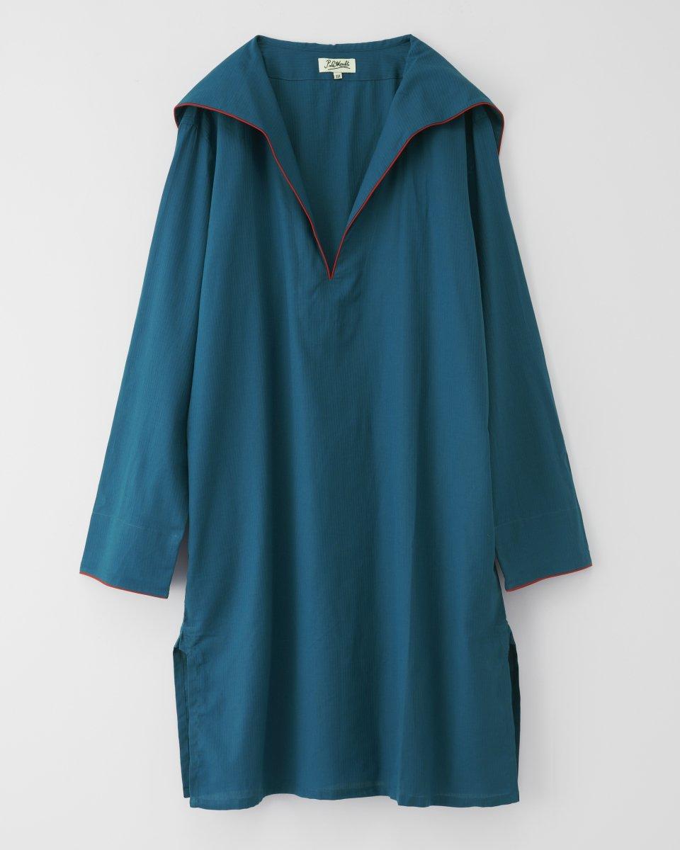 セーラーシャツドレス マリンブルーの写真
