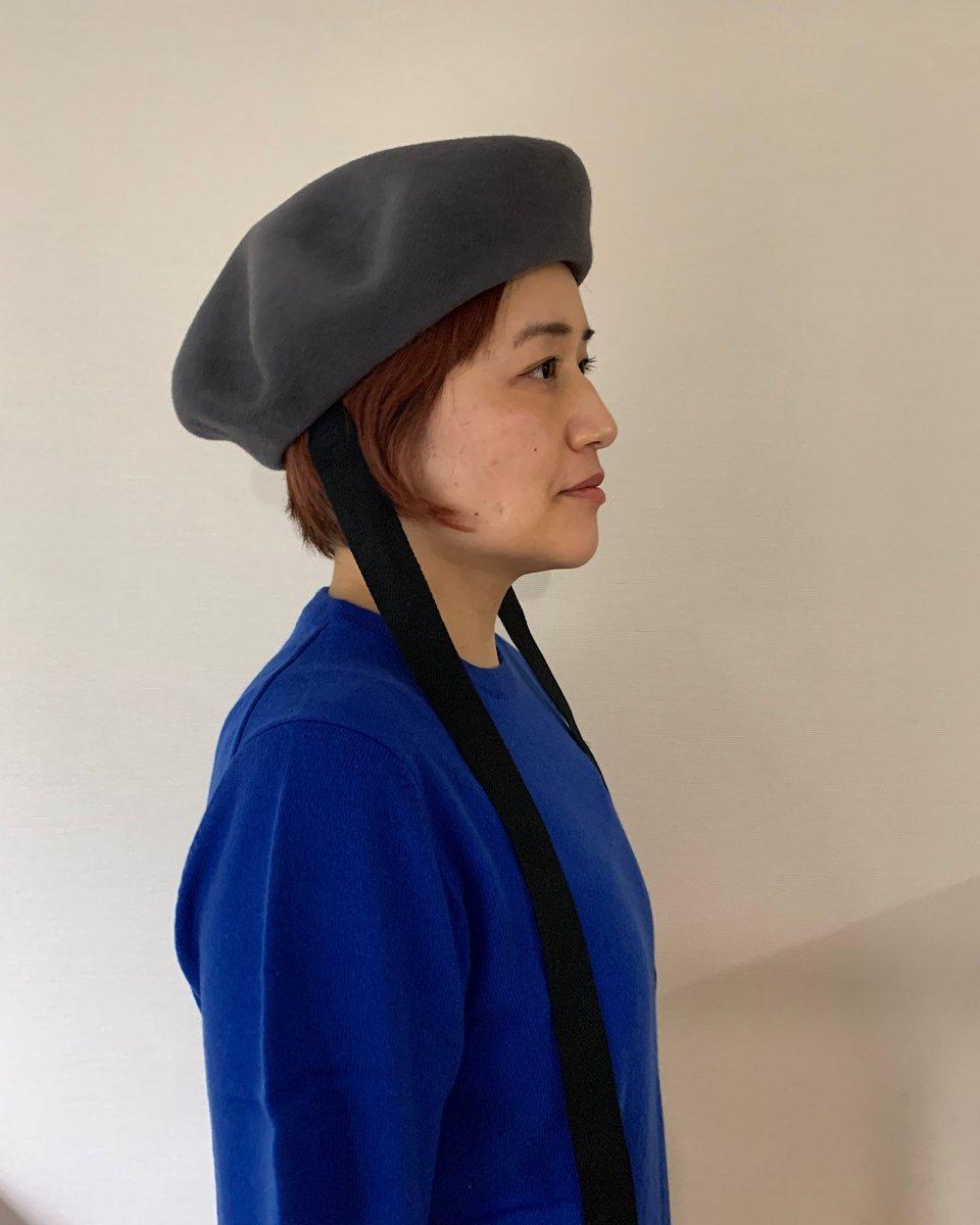 Shinonagumo ベレー帽 グレーの写真