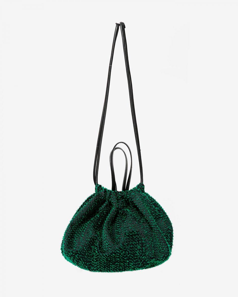 LASTFRAME ニードルパンチ巾着トートバッグ グリーン