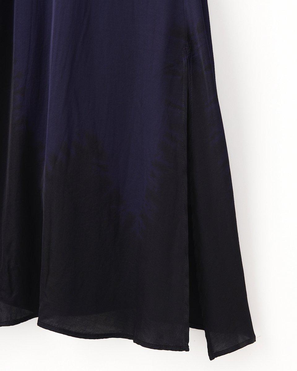 ディップダイスリップドレス ネイビー+ブラックの写真