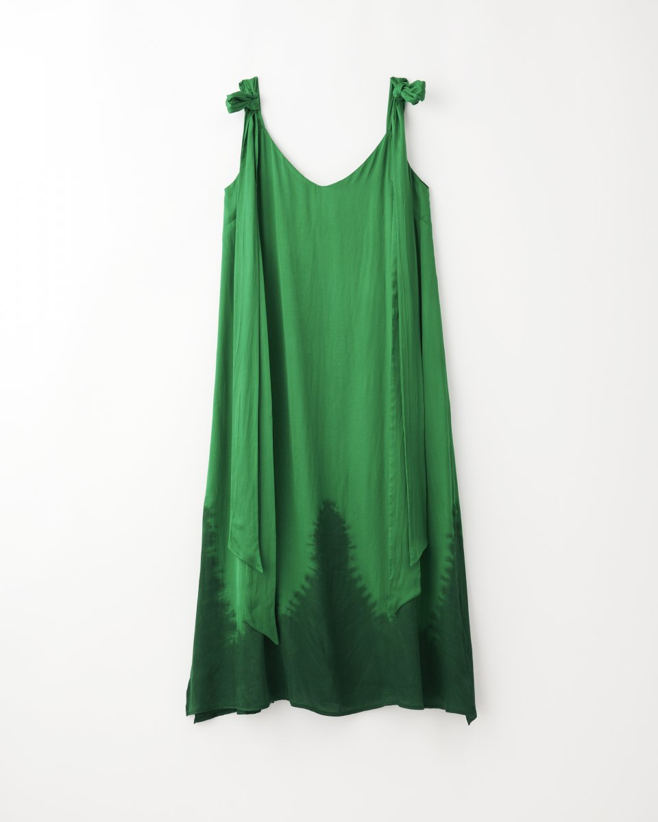 ディップダイスリップドレス グリーン