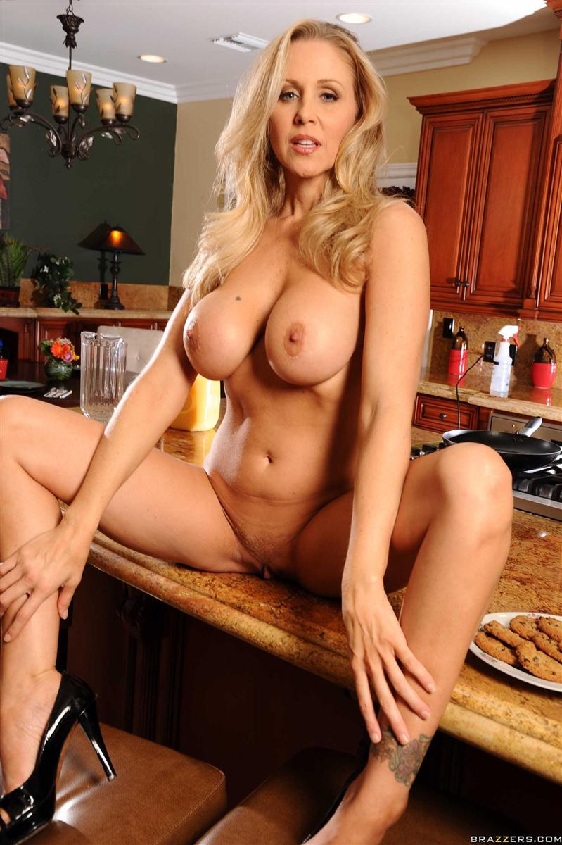 Julia Ann hot housewife fucks in the kitchen Brazzers