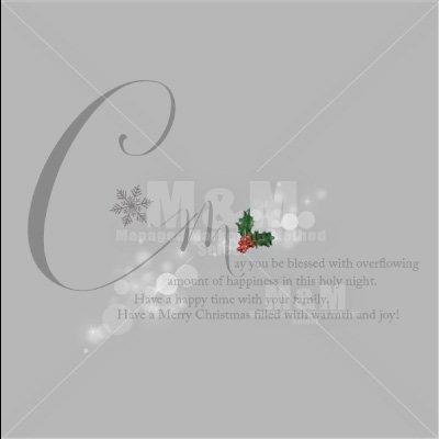 【英文フォント素材】素敵な言葉シリーズ・クリスマス「聖なる夜2」ブラック半透明 - M&M Collection