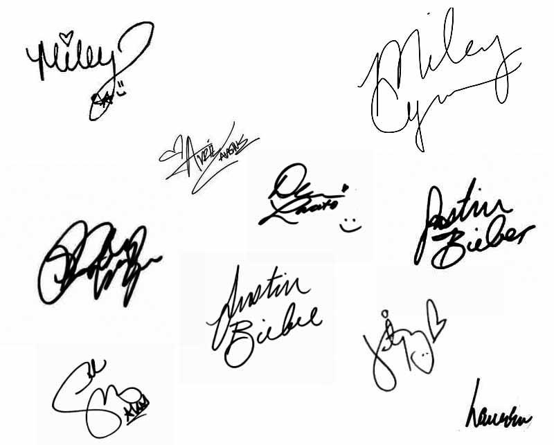 Famous Autographs by LaurenStone on DeviantArt
