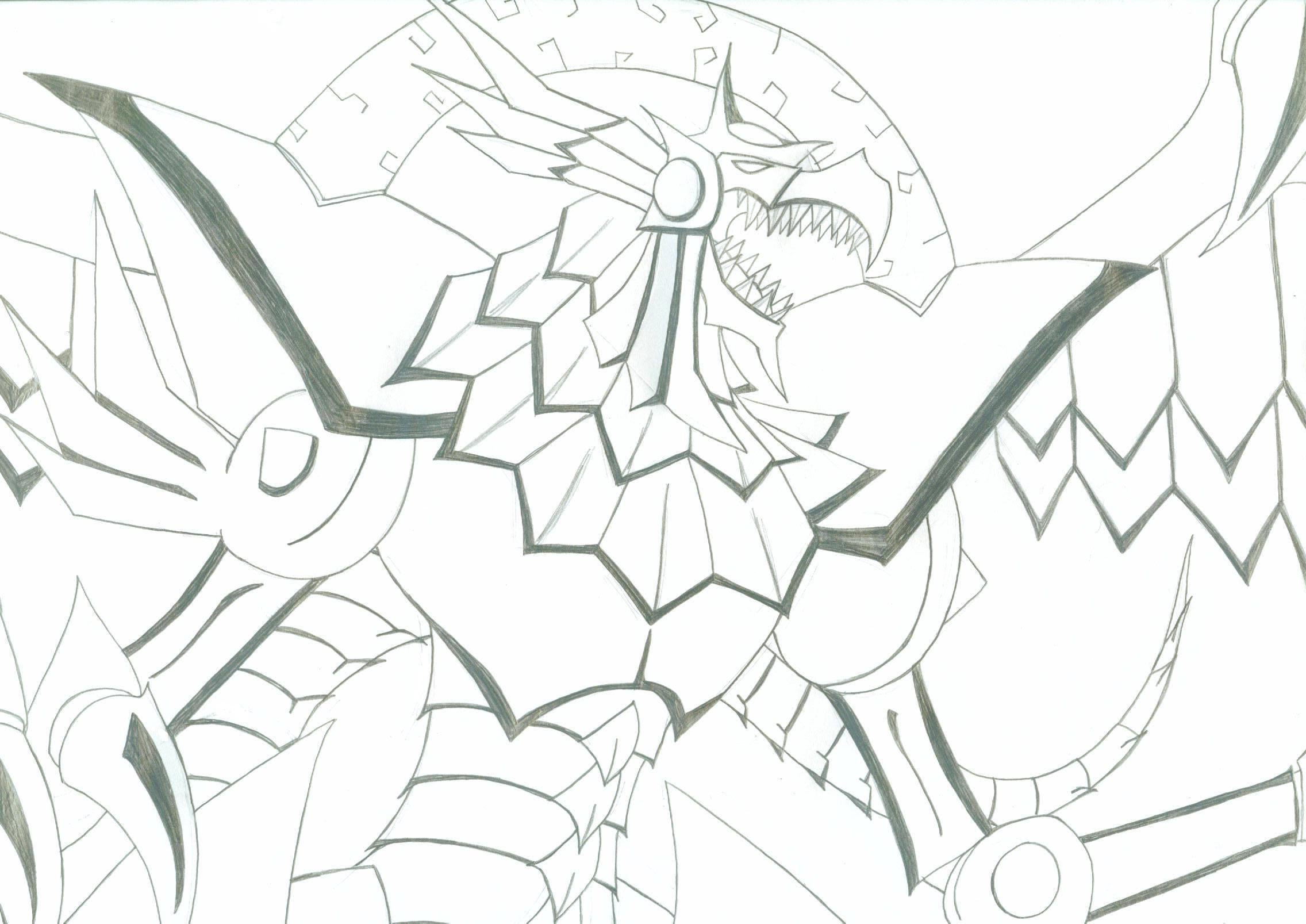 Egyptian God Cards Yu Gi Oh Coloring Pages Sketch Coloring