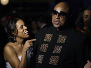 Stevie Wonder and wife Kai Millard Morris in 2009, the year they separated.