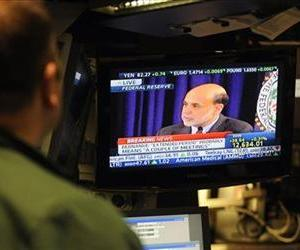 Ben Bernanke, seen on TV in this file photo, has the highest bounty on the site.