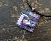 Pink and Violet Mosaic Pendant