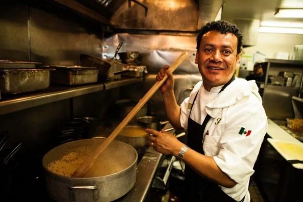Chef Hugo Ortega at his restaurant, Hugo's