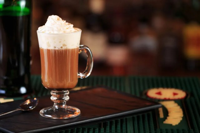 Irish coffee is an ideal drink for St. Patrick's Day