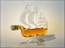 minibottle boat ship filled Hennessy VS cognac 5cl mini ...