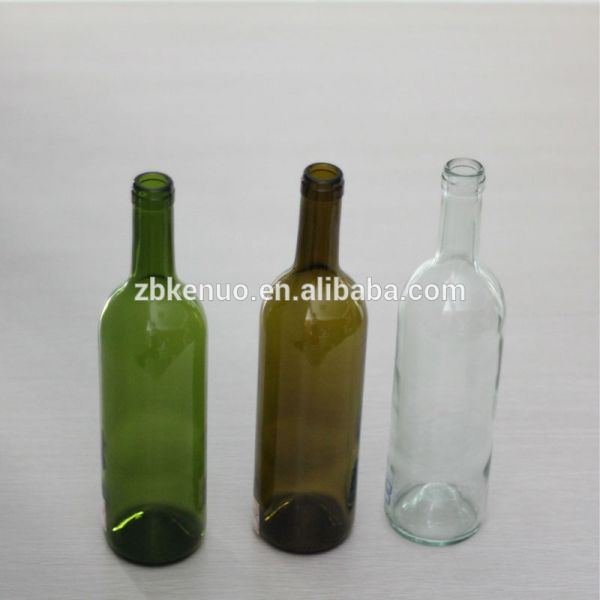 750ml Colored Glass Wine Bottles With Cork