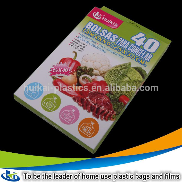 100new Certificated Food Grade Plastic Freezer Bag For