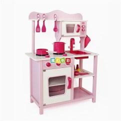 Wooden Kids Kitchen Installation Costs 厂家直销木制儿童厨房套装粉色厨房玩具 木制仿真过家家厨房 价格 批发 木制仿真过家