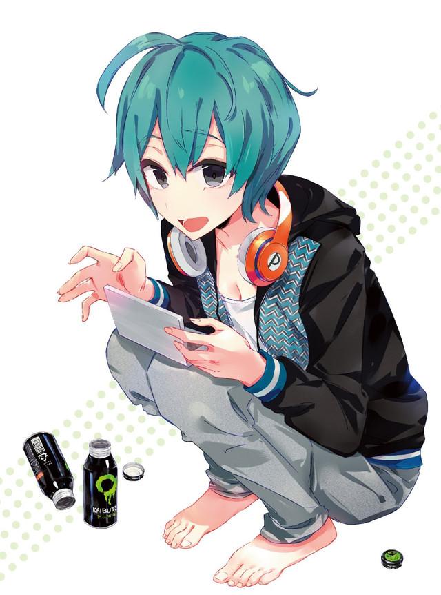 Crunchyroll  Shirobako Original Character Designer Draws Energy Drink Popping Misa for Bluray