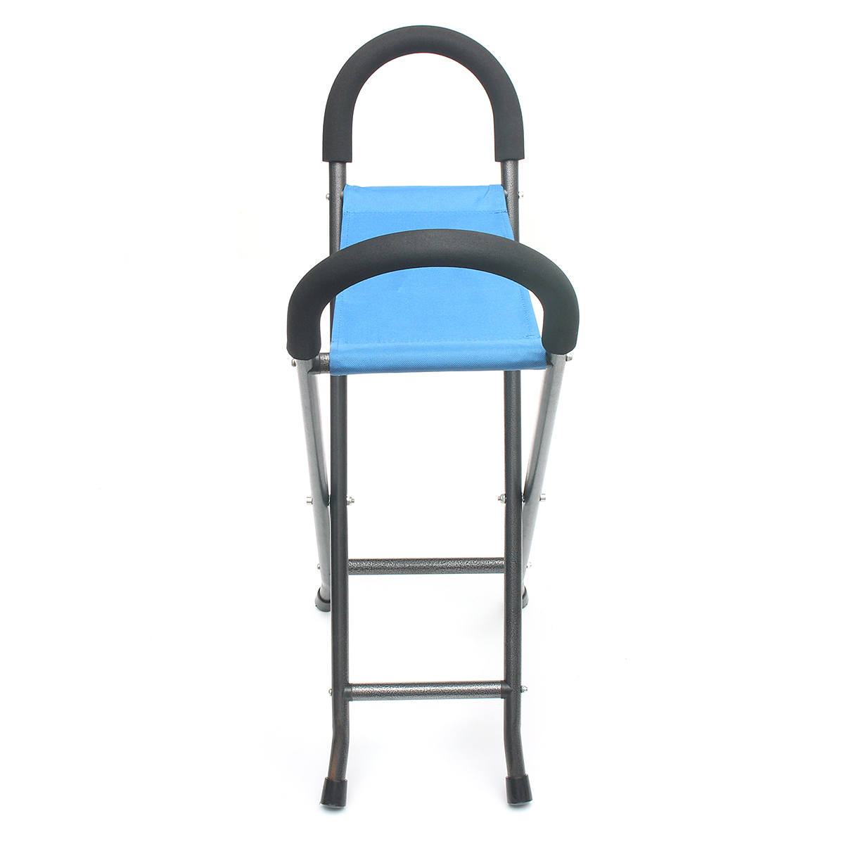 walking cane seat chairs tall desk chair ipree multi function folding pyramid