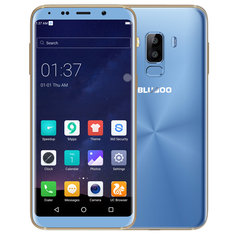 Bluboo S8 Appareil photo arrière double 5.7 '' Android 7.0 3GB RAM 32GB ROM MTK6750T Octa-Core 4G Smartphone