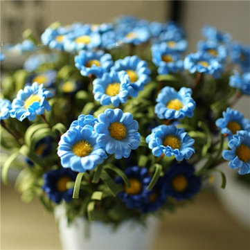 4 Colors 8 Heads Handmade Daisy Artificial Flowers Simulation