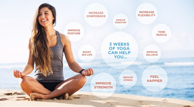 3 weeks of yoga benefits