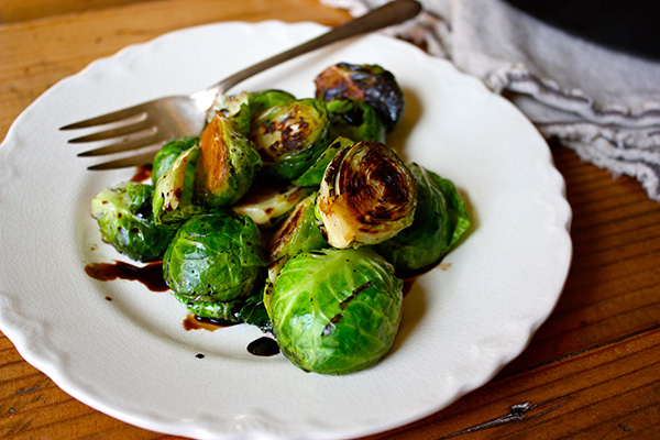 Blistered Brussels Sprouts