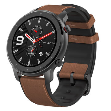Amazfit GTR 47MM AMOLED Smart Watch GPS+GLONASS 12 Sports Mode 5ATM Wristband International f xiaomi EcoSystem Brown Aluminum Alloy